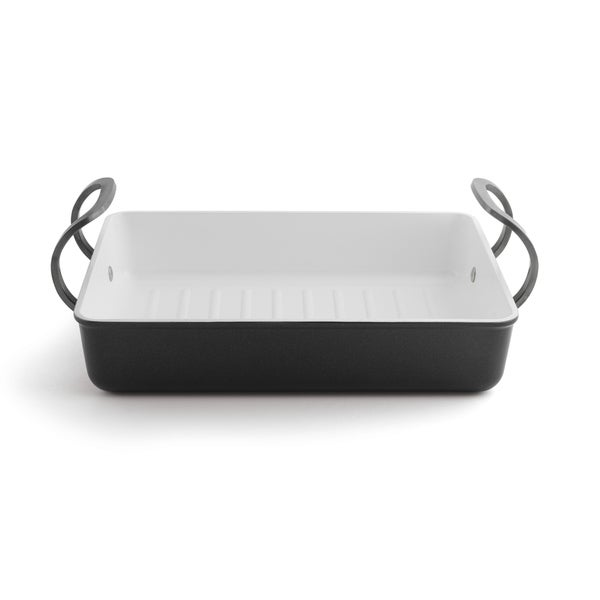 Eclipse Black and White Roasting Pan
