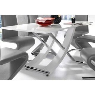 Scandinavian Lifestyle Kaleo High-gloss Chrome Cross-leg Dining Table