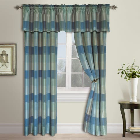 Luxury Collection Plaid Woven Curtain Pairs