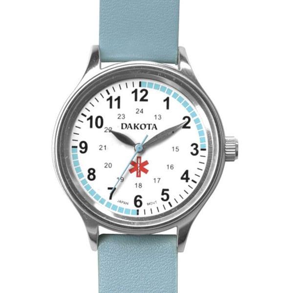 Dakota Women's Nurse MIdsize Fun Color Light Blue Leather Watch