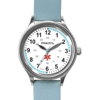 f8297afe8 Shop Dakota Women's Nurse MIdsize Fun Color Light Blue Leather Watch ...