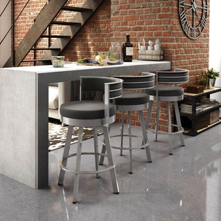 Amisco Browser 26-inch Swivel Metal Counter Stool