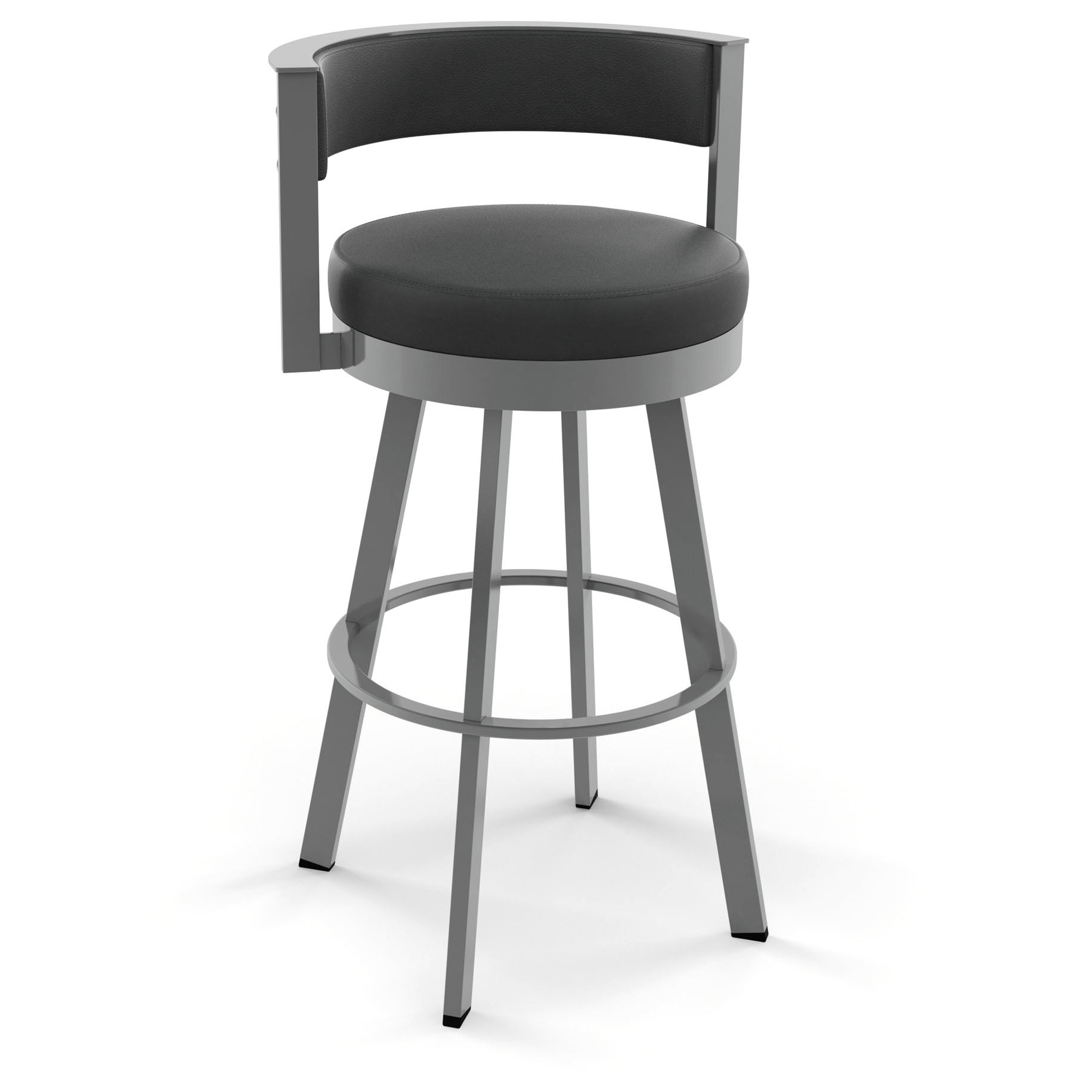 Shop Clay Alder Home High Bridge 26 Inch Swivel Metal Counter Stool