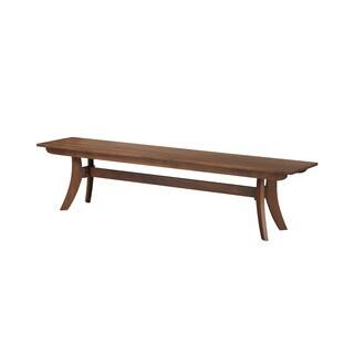 Aurelle Home Solid American Walnut Bench