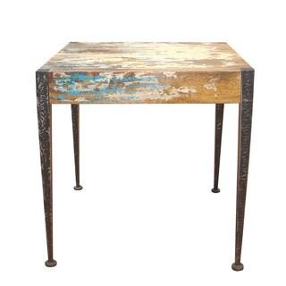 Aurelle Home Aria Rustic Vintage End Table