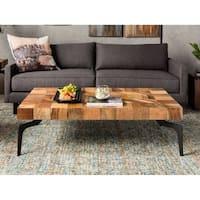 Aurelle Home Brandon Solid Wood Coffee Table