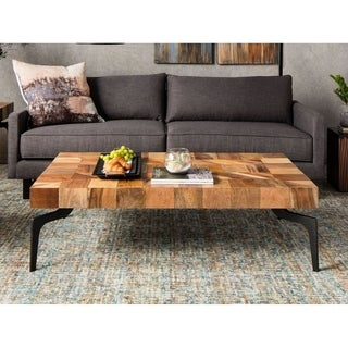 Aurelle Home Brandon Solid Wood Coffee Table