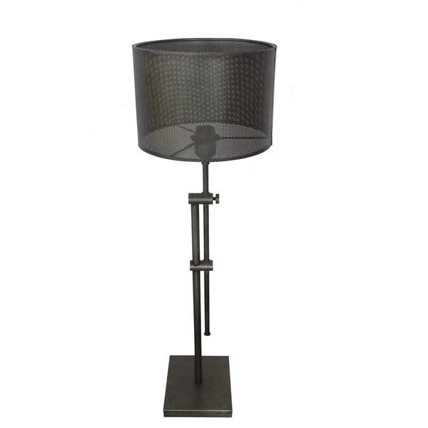 Aurelle Home Terry Metal Grid Adjustable Table Lamp