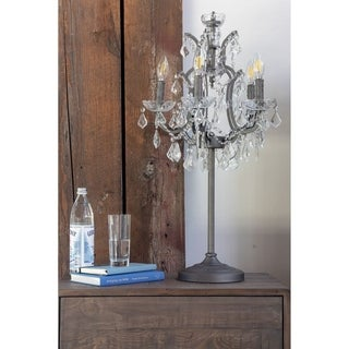 Aurelle Home Dory Crystal Table Lamp
