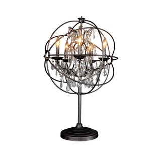 Aurelle Home Iron & Crystal Sphere Table Lamp