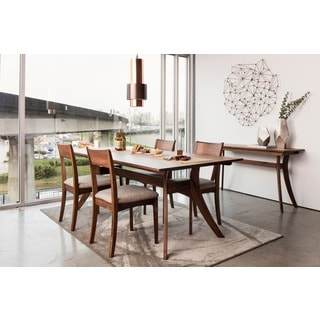 Aurelle Home Cara Solid American Walnut Dining Table