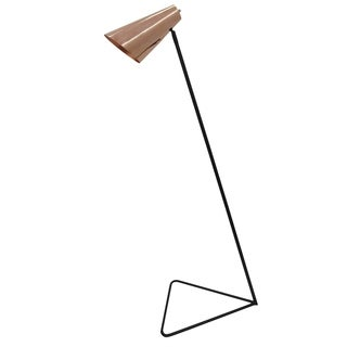 Aurelle Home Contemporary Brass Floor Lamp