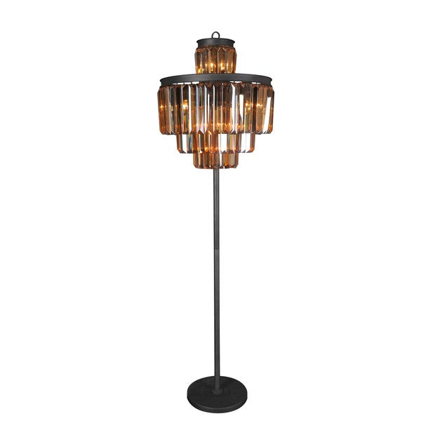 Aurelle Home Benelli Crystal Floor Lamp