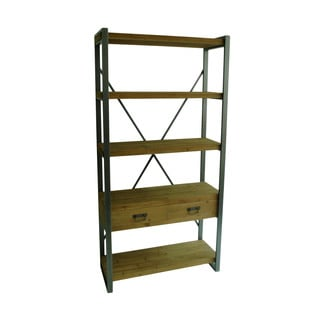 Aurelle Home Industial Wood and Iron Bookcase