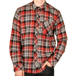 Knights of Round Table Men's Button Down Plaid Flannel