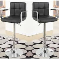 Julian Leather Barstools (Set of 2)