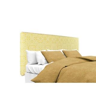 MJL Furniture Alice Santorini Golden-Rod Designer Upholstered Headboard