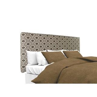 MJL Furniture Alice Nicole Gray-Linen Designer Upholstered Headboard