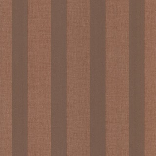 Dark Brown Linen Stripe Wallpaper