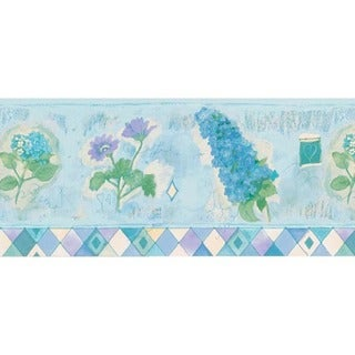 Lavender Whimsy Floral Wallpaper Border