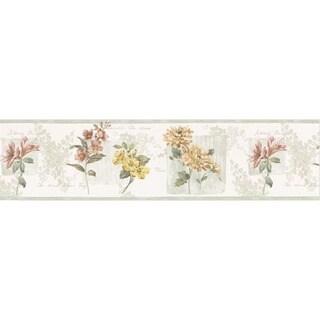 Light Green Flower Name Wallpaper Border