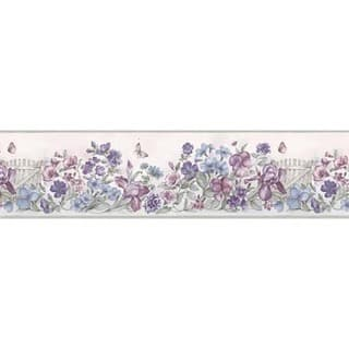 Lavender Picket Fence Wallpaper Border|https://ak1.ostkcdn.com/images/products/10568986/P17646158.jpg?impolicy=medium