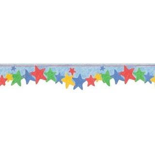 Blue Happy Star Wallpaper Border