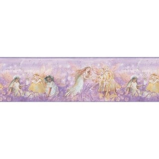 Purple Fairy Wallpaper Border