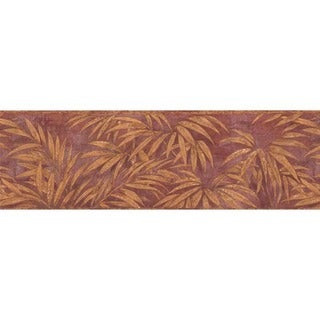 Merlot Tropical Foliage Wallpaper Border