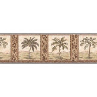 Brown Palm Tree Wallpaper Border