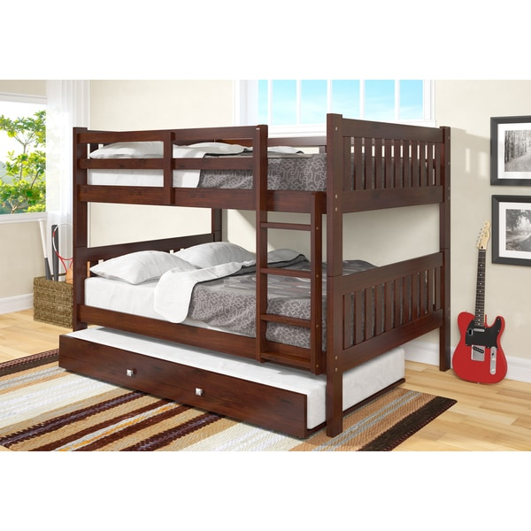 Donco Kids Full Over Full Mission Bunk Bed With Twin