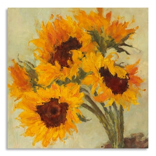 Gallery Direct Suzanne Stewart 'Sunflowers I' Print on Birchwood Wall Art