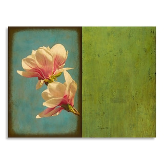 Gallery Direct St. John 'Blooming I' Print on Birchwood Wall Art