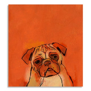 Gallery Direct St. John 'Pug' Print on Birchwood Wall Art