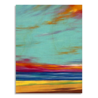 Gallery Direct Marie Meyer 'Fire in the Sky' Print on Birchwood Wall Art