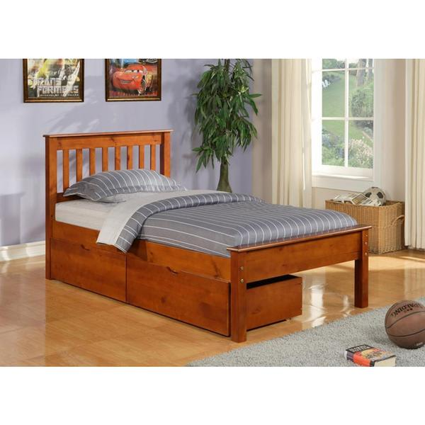 shop donco kids full size contempo bed with dual under bed drawers on sale free shipping. Black Bedroom Furniture Sets. Home Design Ideas