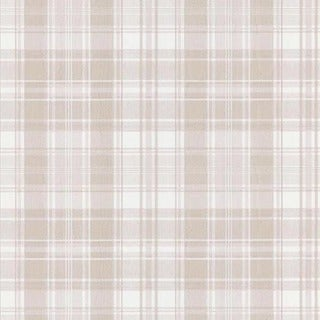 White Distressed Plaid Wallpaper