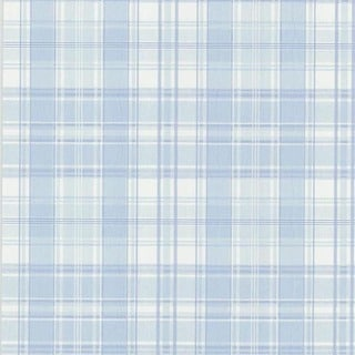 Light Blue Distressed Plaid Wallpaper