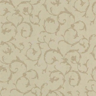 Brown Scroll Wallpaper