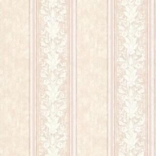 Blush Floral Stripe Wallpaper