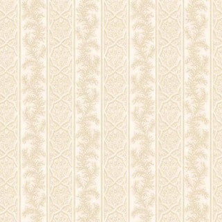 Cream Ornate Stripe Wallpaper