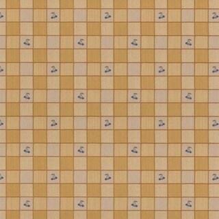 Yellow Checkered Tile Wallpaper