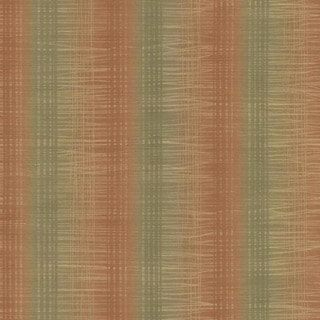 Rust Ombre Textured Stripe Wallpaper