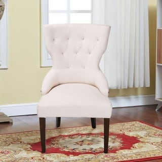 Adeco Fabric Upholstered Dining Room Armchair (Set of 2)