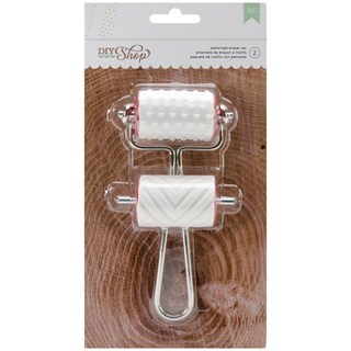 DIY Shop Brayer Stamps 1.75in Wide 2/PkgHearts & Chevron