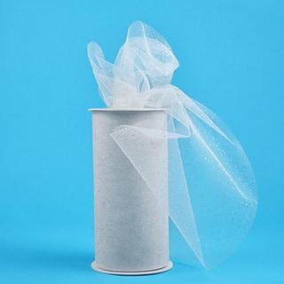 Glitter Tulle 6inX25yd SpoolWhite W/Silver Glitter|https://ak1.ostkcdn.com/images/products/10569377/P17646558.jpg?impolicy=medium