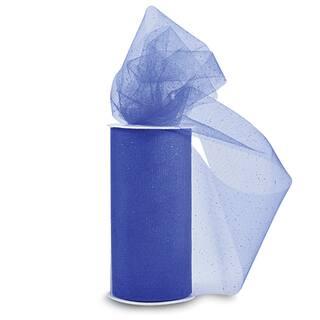 Glitter Tulle 6inX25yd SpoolRoyal Blue W/Blue Glitter|https://ak1.ostkcdn.com/images/products/10569379/P17646559.jpg?impolicy=medium