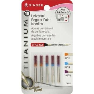 Titanium Universal Regular Point Machine NeedlesSizes 11/80 (4), 14/90 (4) & 16/100 (2)