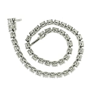 14k White Gold 10ct TDW Certified Diamond Tennis Bracelet By Life More Dazzling (E-F, SI2-I1)