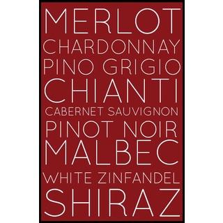 Subway Wine Styles (11-inch x 17-inch) on Woodmount